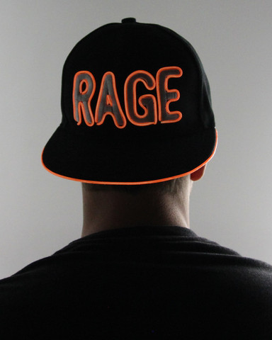 Light Up Snapback Hat - Rage - Orange