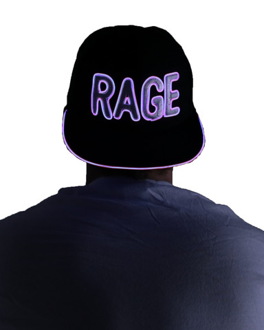Light Up Snapback Hat - Rage - Pink