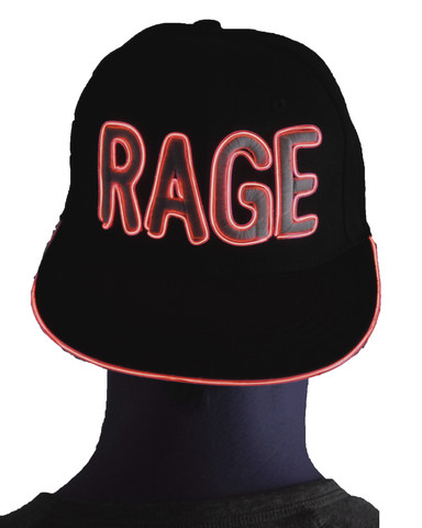 Light Up Snapback Hat - Rage - Red