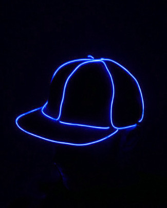 Light Up Snapback Hat - Blue
