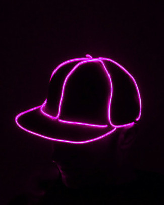 Light Up Snapback Hat - Pink