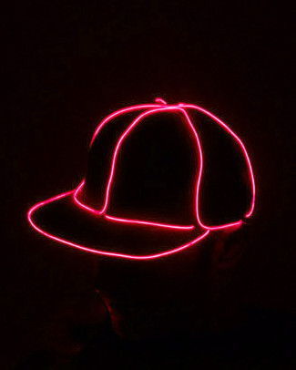 Light Up Snapback Hat - Red