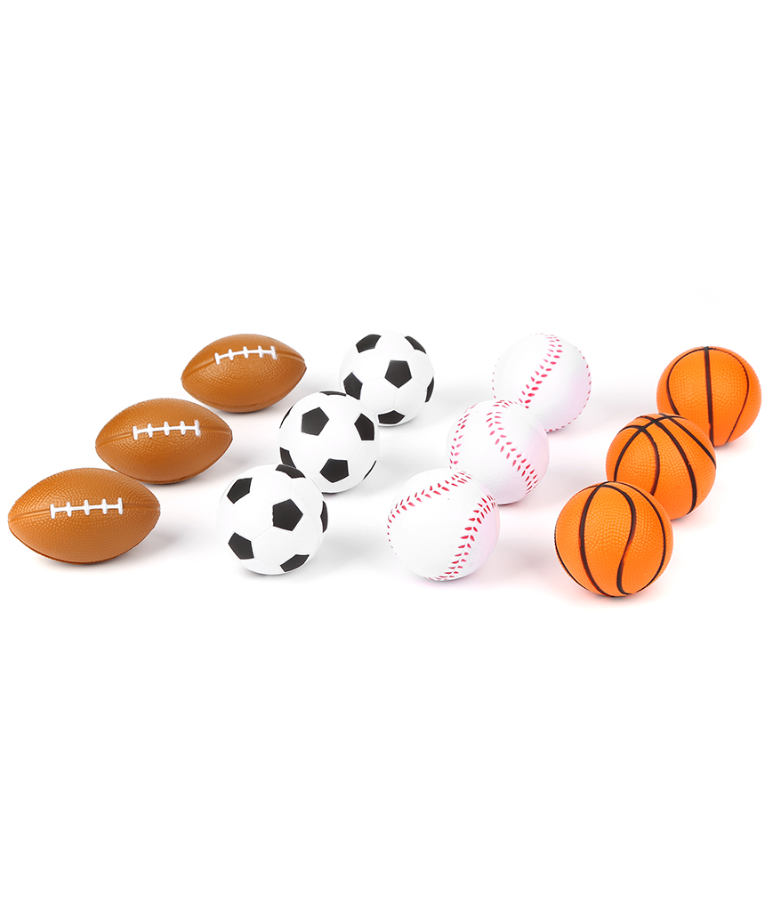 2.5 Inch Sport Stress Ball Assorted - 12ct