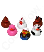 Farm Animal Rubber Duck - 12 ct