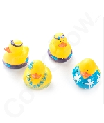 Fun Central AZ975 Rubber Luau Duckies Toy - 12ct