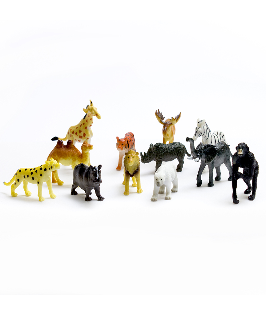 Plastic Safari Animals - Assorted 72ct