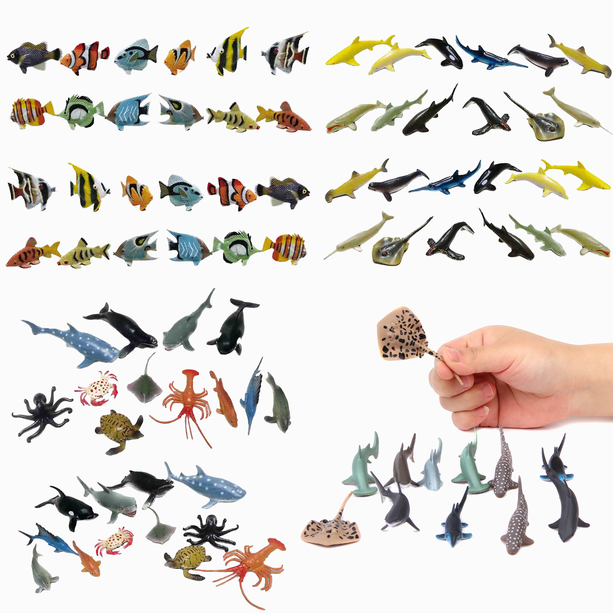 Sea animal figure party pack