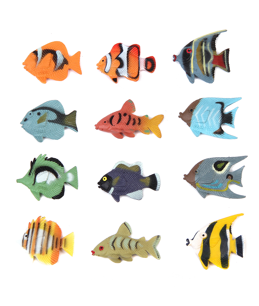 1.5 Inch Tropical Fish Figure Play Set
