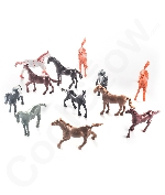 Fun Central AZ987 2.5 Inch Vinyl Plastic Horses Toy - 12ct
