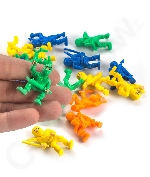 1.5 Inch Solid Color Ninja Toy Figures - 20ct