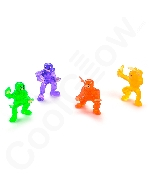 1.5 Inch Vinyl Ninja Warrior Toys - 48 ct