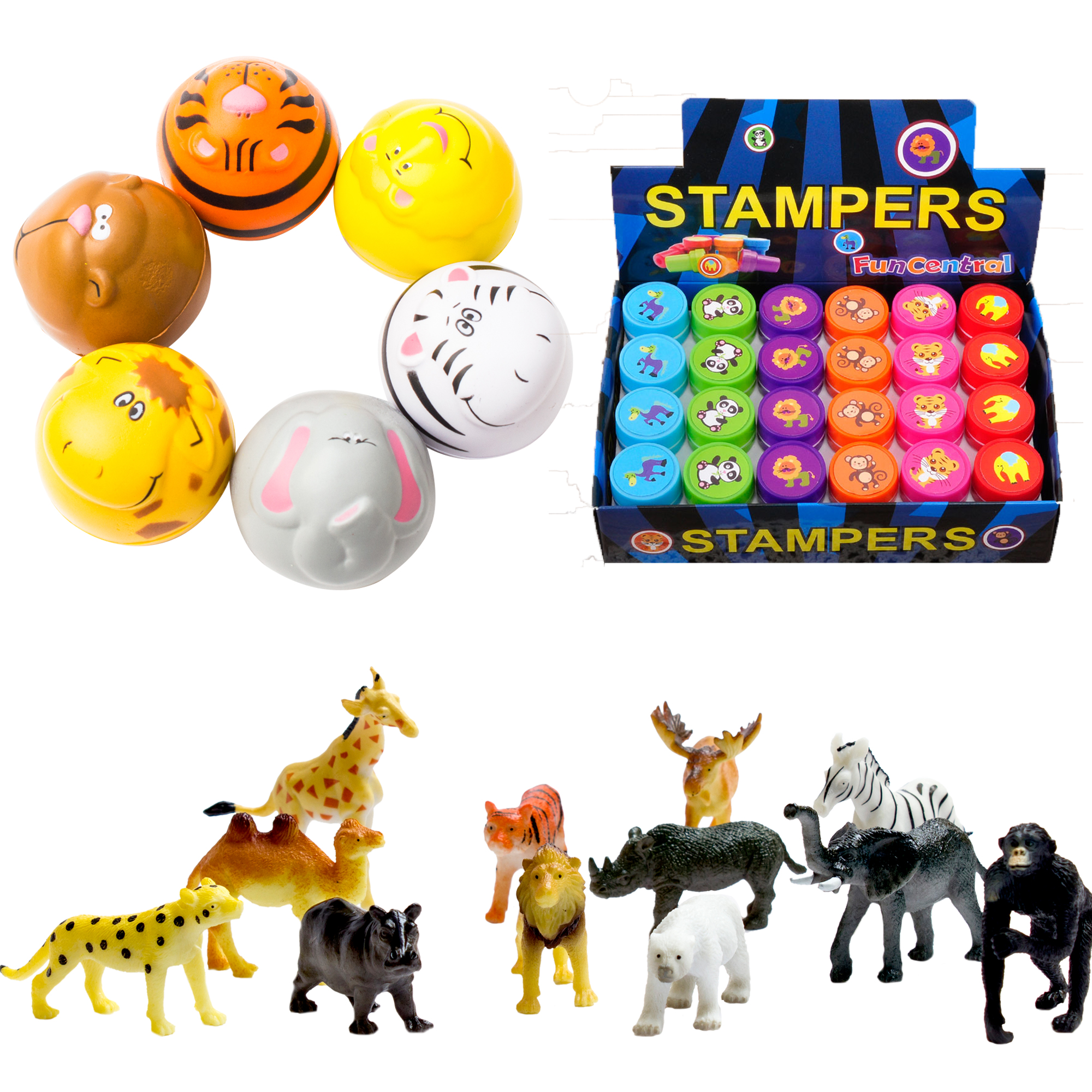 Fun Central BC827 Zoo animal party pack