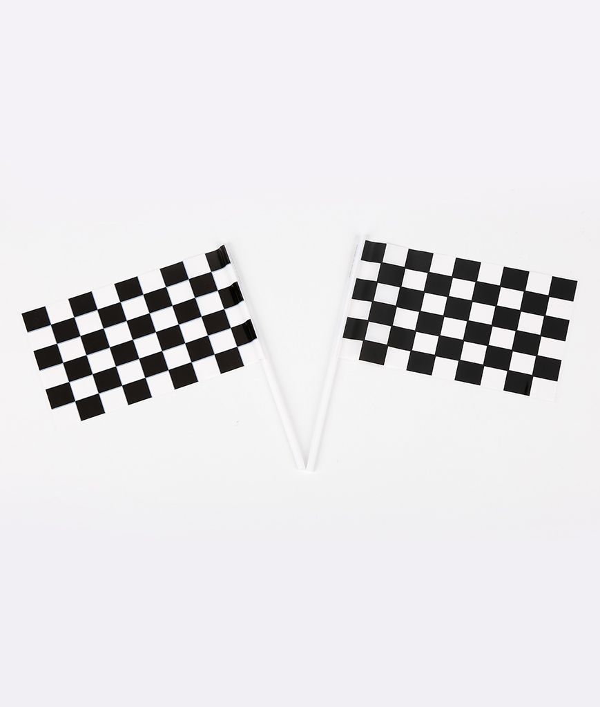Plastic Racing Flags - 72ct
