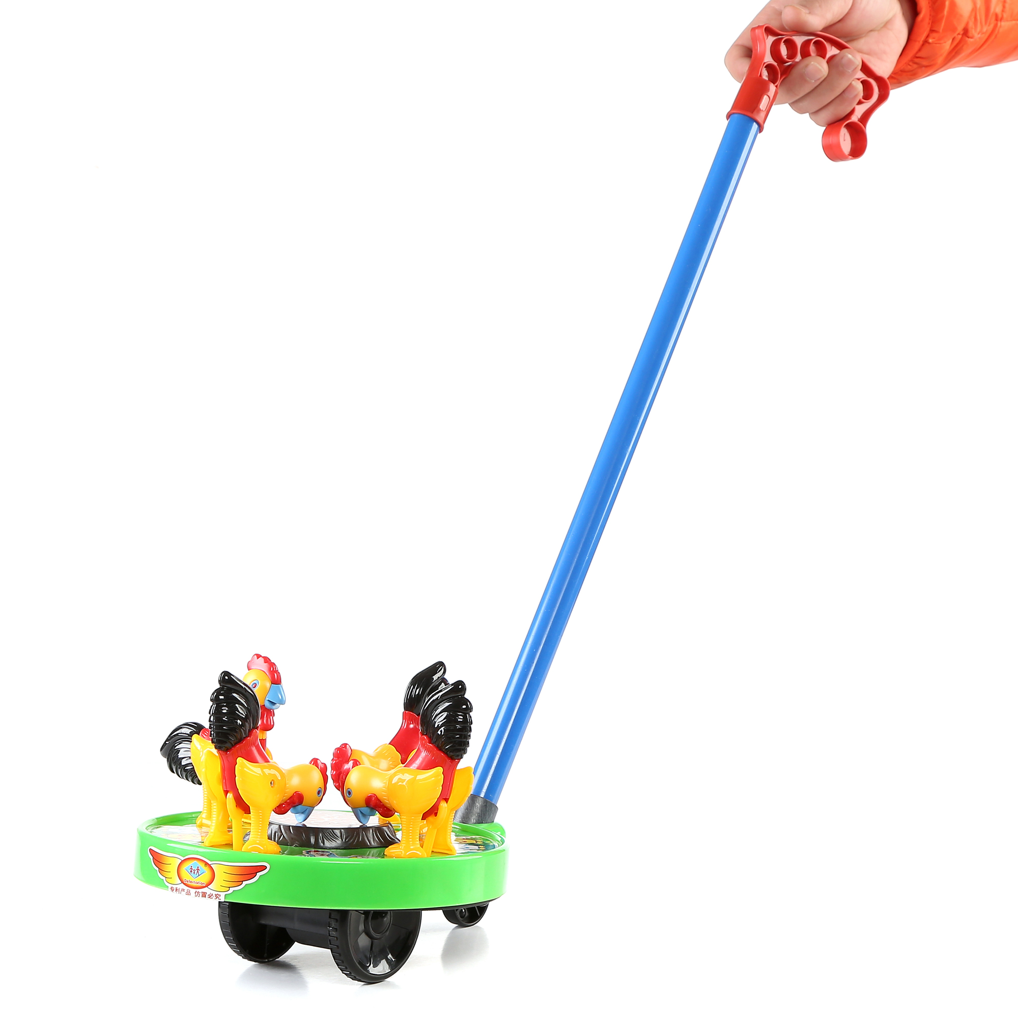 9 Inch Chicken Push Toy