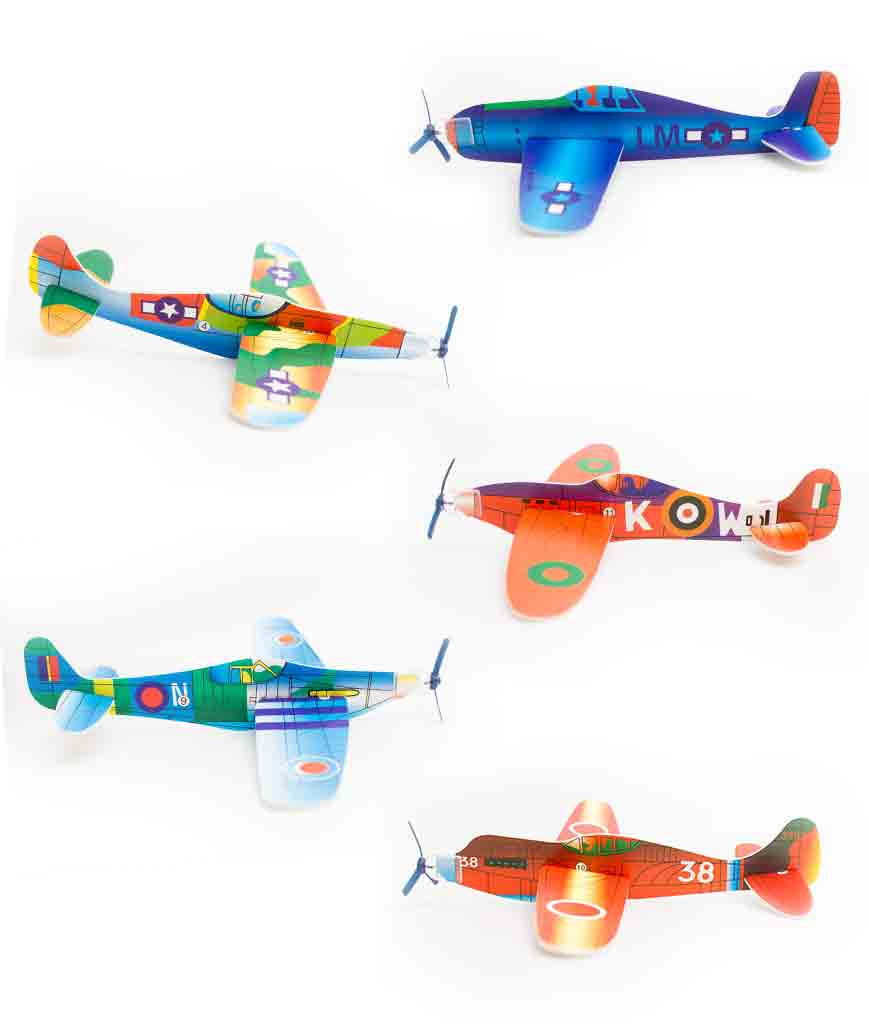 8 Inch Novelty Glider Planes 24ct