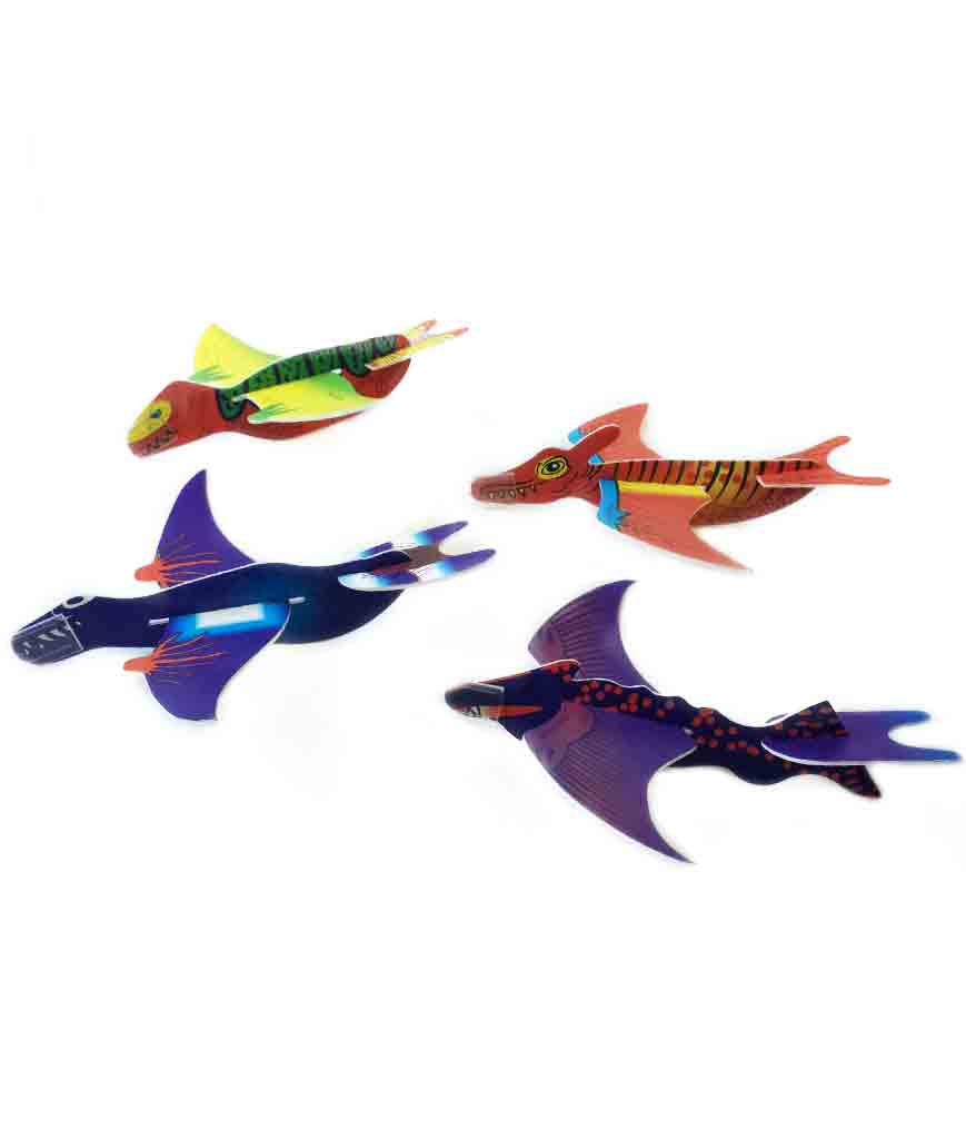 7.5 Inch Novelty Dinosaur Gliders 48ct