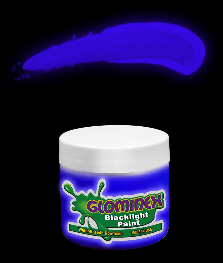 Glominex Blacklight UV Reactive Paint 2 oz Jar - Blue
