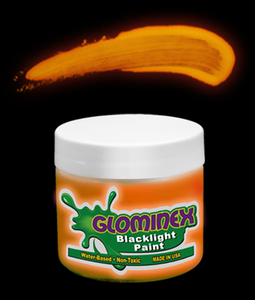 Glominex C282 Blacklight UV Reactive Paint 4 oz Jar - Orange