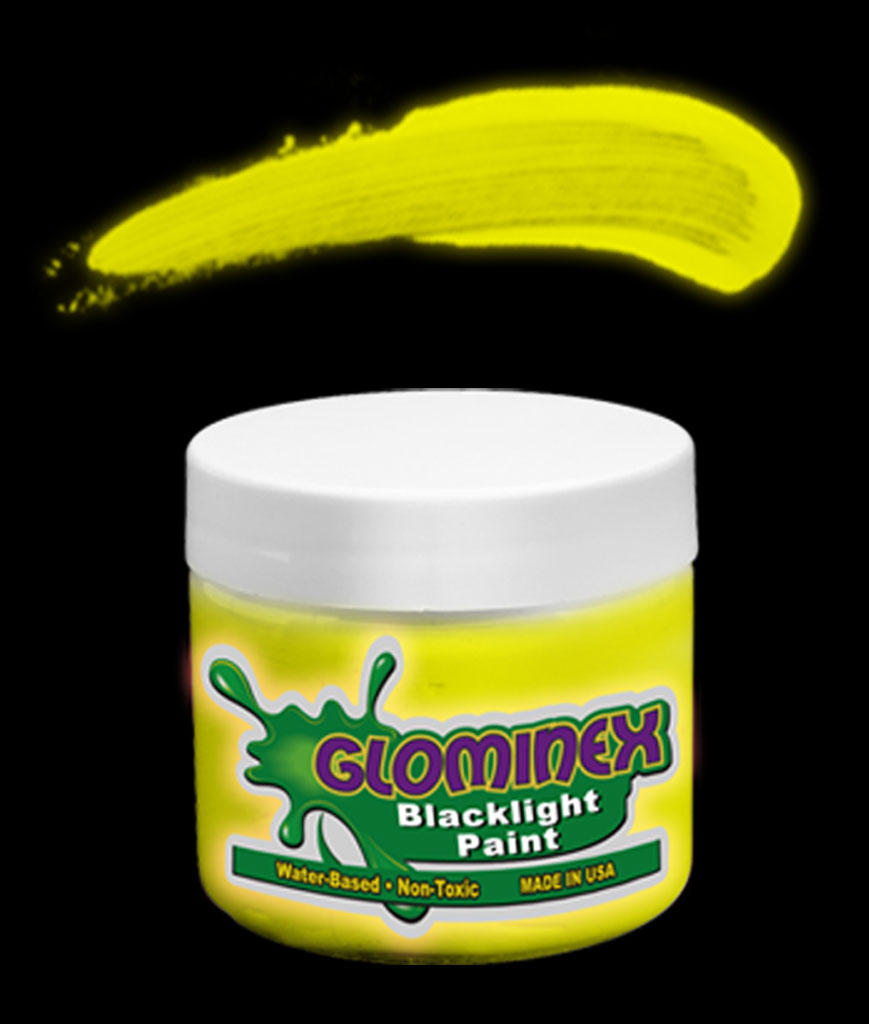 Glominex C283 Blacklight UV Reactive Paint 4 oz Jar - Yellow