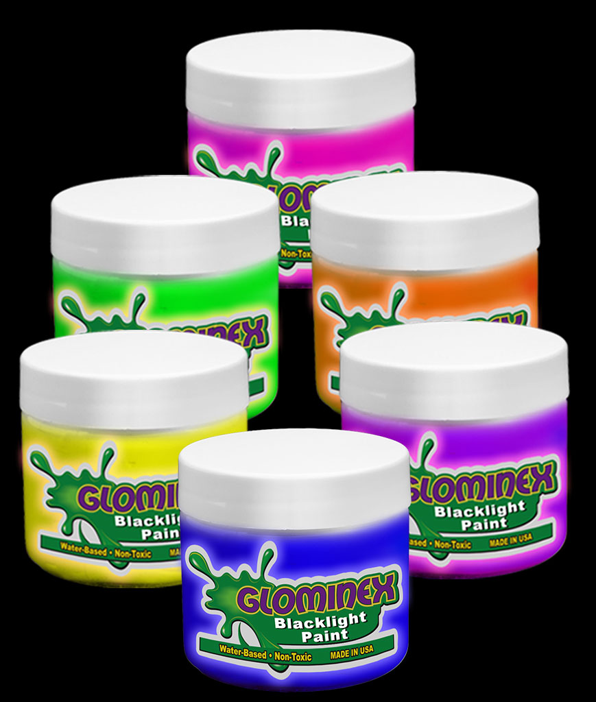 Glominex Blacklight UV Reactive Paint Pints - Assorted