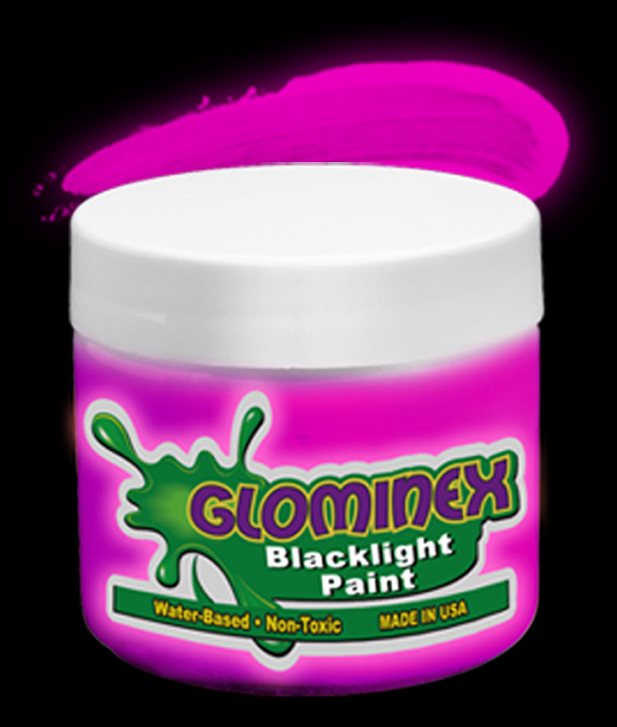 Glominex Blacklight UV Reactive Paint Pint - Pink
