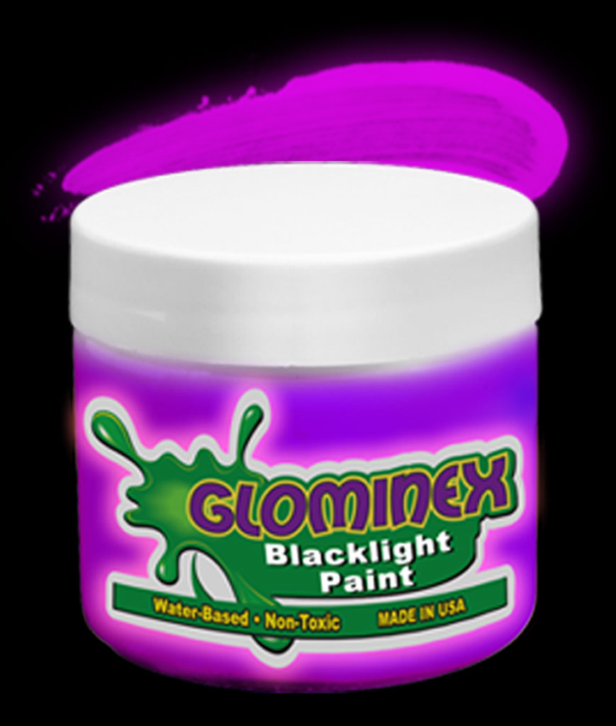 Glominex Blacklight UV Reactive Paint Pint - Purple