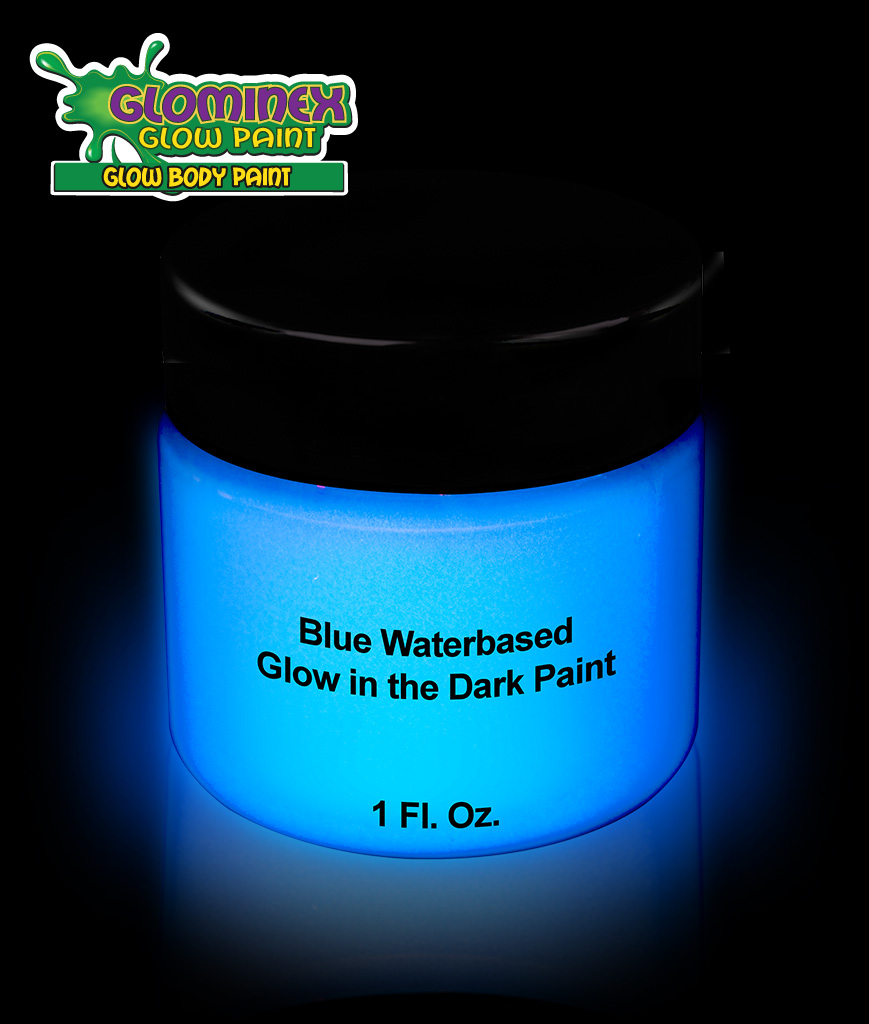 Glominex Glow Body Paint 1oz Jar - Blue