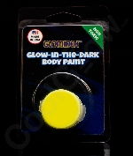 Glominex AY828 Glow in the Dark Body Paint Single Pack Clamshell - Yellow