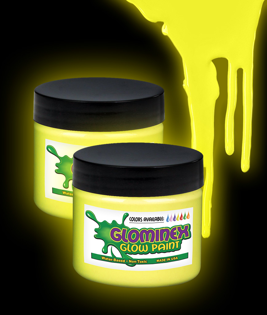 Glominex Glow Paint 2 oz Jar - Yellow