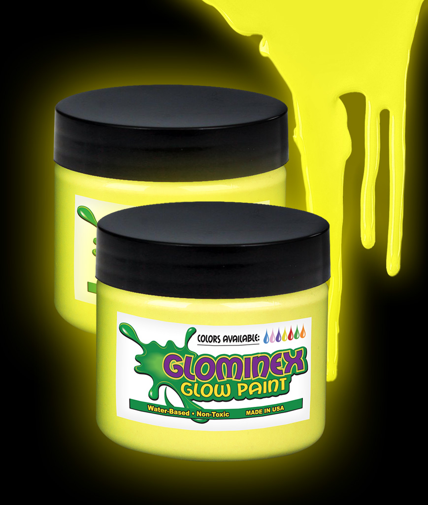Glominex Glow Paint 4 oz Jar - Yellow