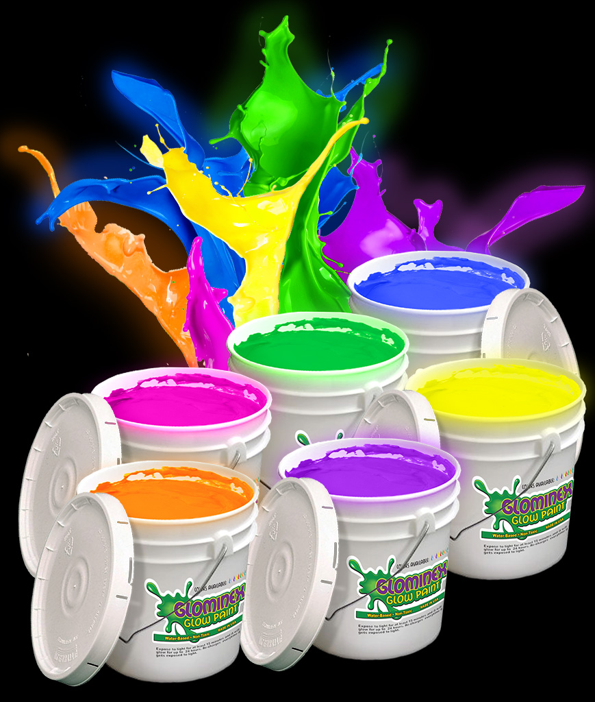 Glominex O963 Glow in the Dark Paint Gallons - Assorted