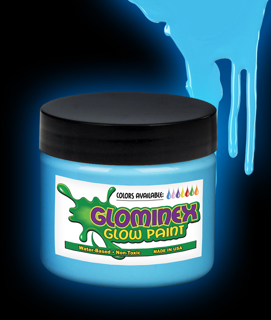 Glominex Glow Paint Pint - Blue