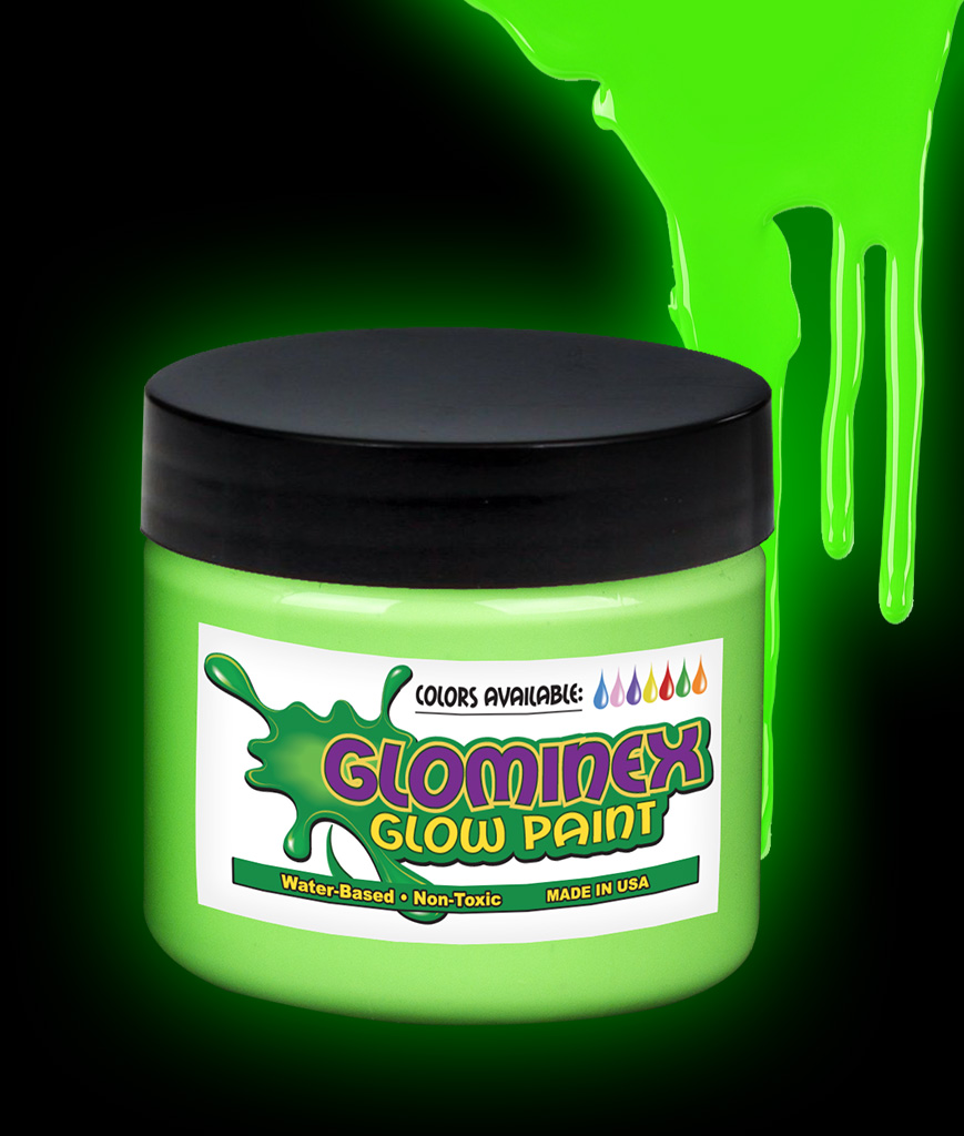 Glominex Glow Paint Pint - Green