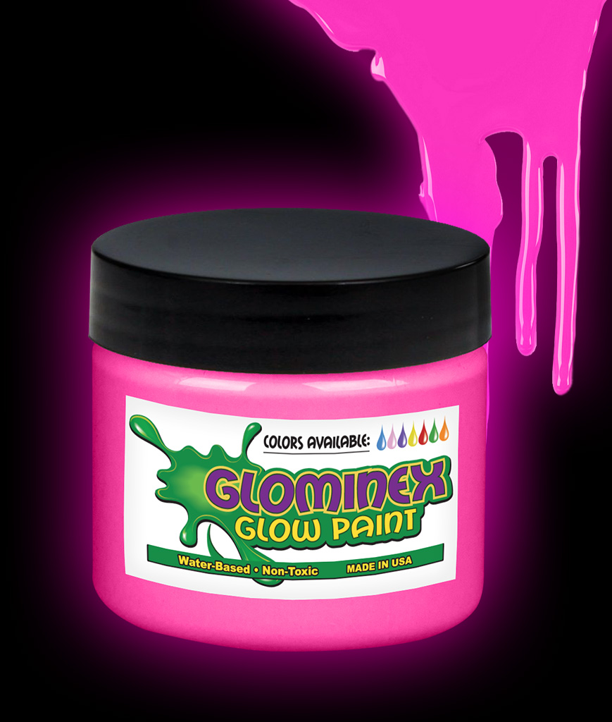 Glominex O944 Glow in the Dark Paint Pint - Pink