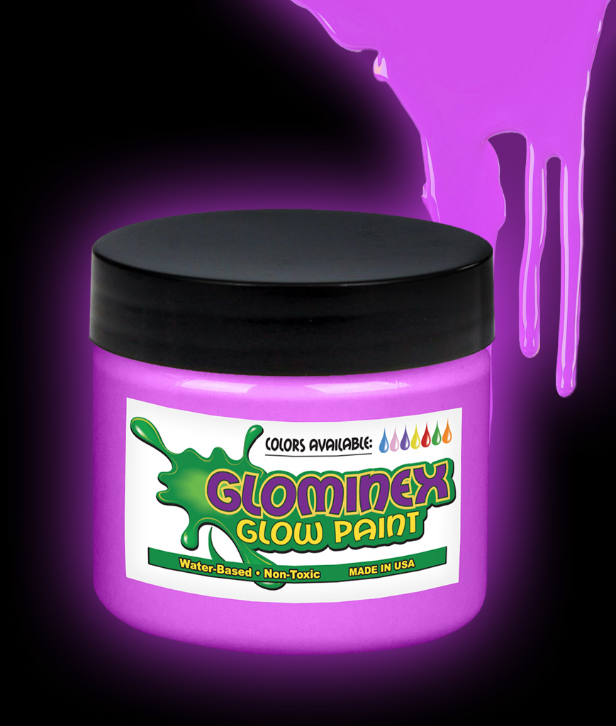 Glominex Glow Paint Pint - Purple