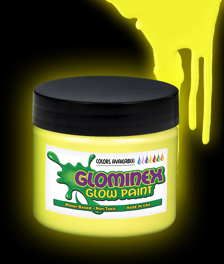 Glominex O932 Glow in the Dark Paint Pint - Yellow