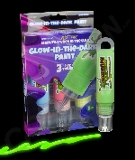 Glominex Glow Paint 1oz Tubes - Retail Ready 3 Pack