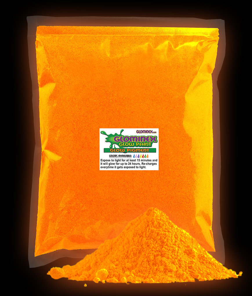 Glominex Ultraviolet Reactive Pigment 1 kg - Orange AD283