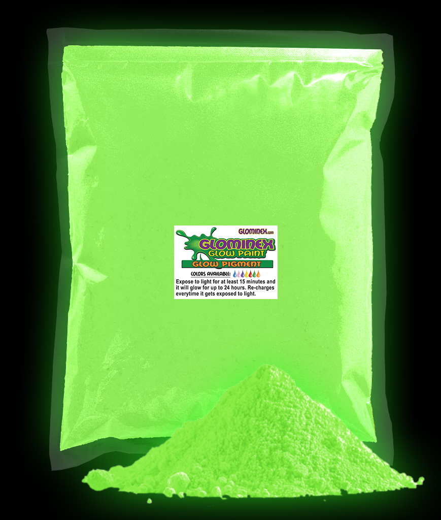 Glominex Glow in the Dark Pigment 1 kg - Green AD244