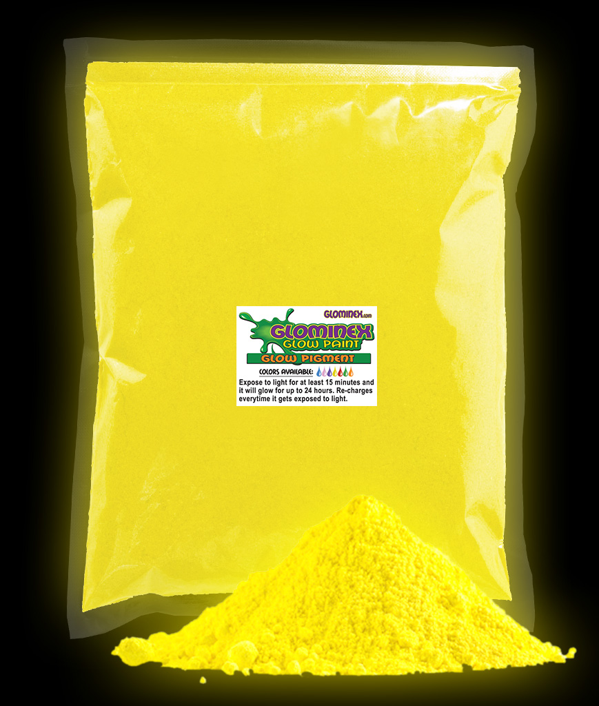Glominex Ultraviolet Reactive Pigment 1 kg - Yellow