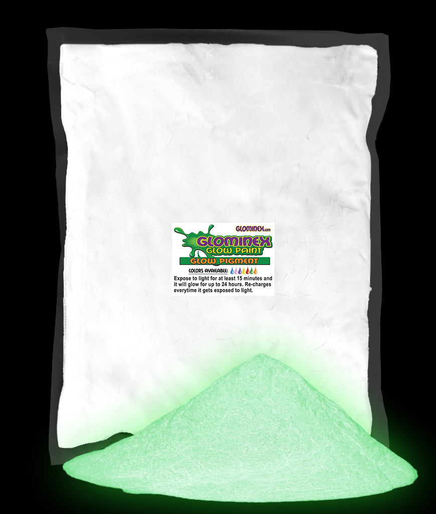 Glominex Glow in the Dark Pigment 1 kg - Invisible Day Green AD265