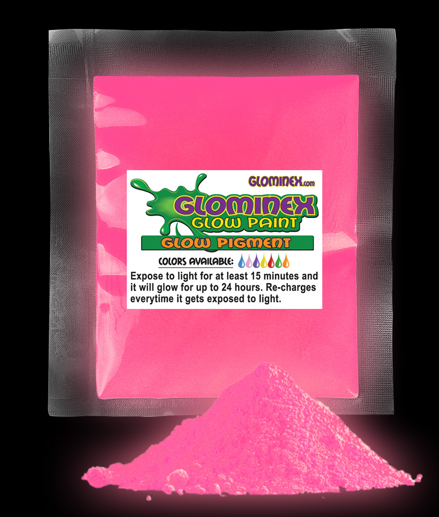 Glominex Glow in the Dark Pigment 1 oz - Pink AD240