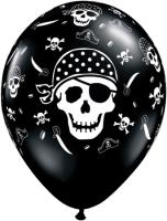 11 Inch Pirate Skull & Cross 50 Ct