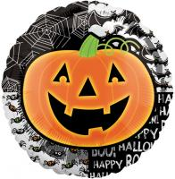 18 Inch Halloween Bright Pumpkin Metallic Balloon