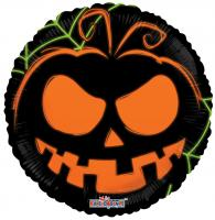 18 Inch Neon Pumpkin Metallic Balloon