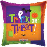 18 Inch Trick Or Treat Metallic Balloon