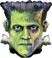 25 Inch Frankenstein Head Metallic Balloon