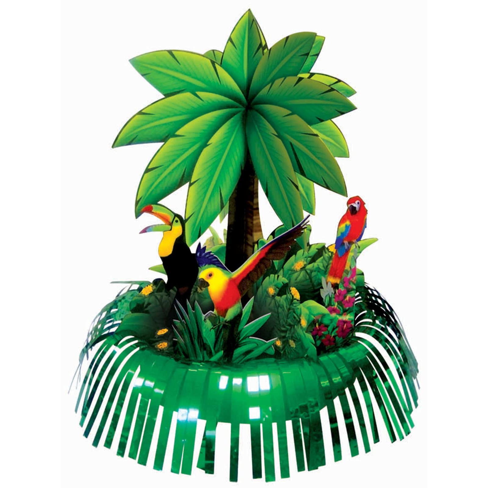 Fringe Palm Tree Centerpiece