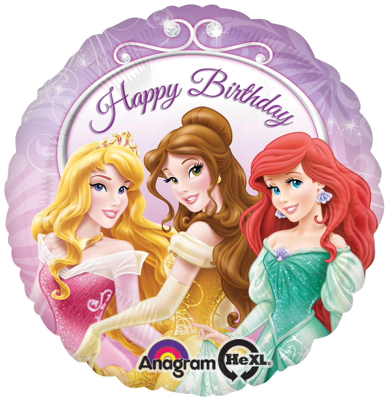 Disney Princess Birthday Balloon- 18 Inch