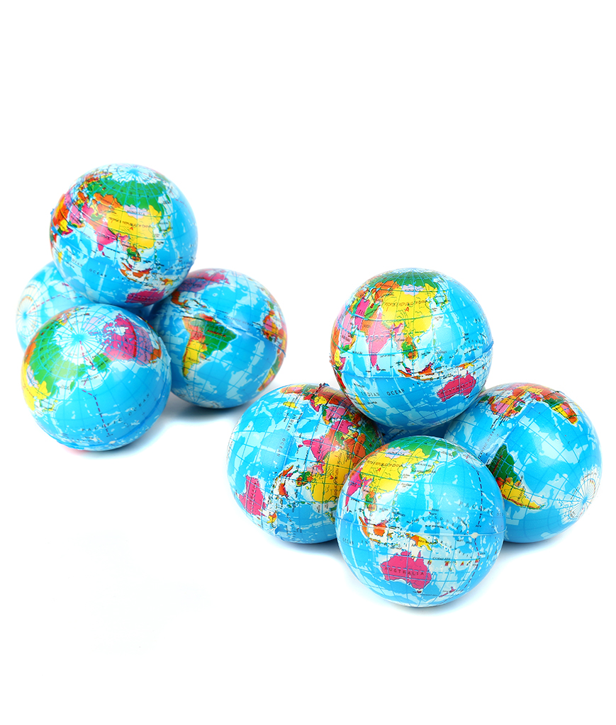 3 Inch World Squeeze Ball - 12ct